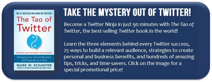 Tao of Twitter book ad