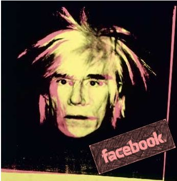 andy warhol on social media