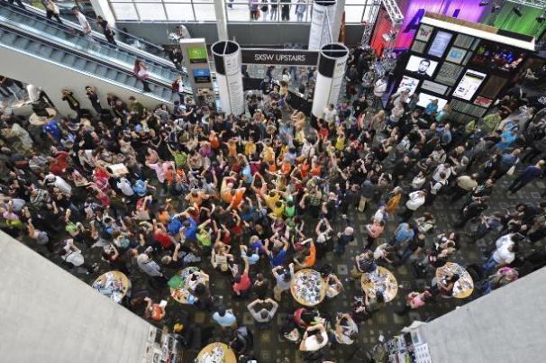 sxsw convention crowd