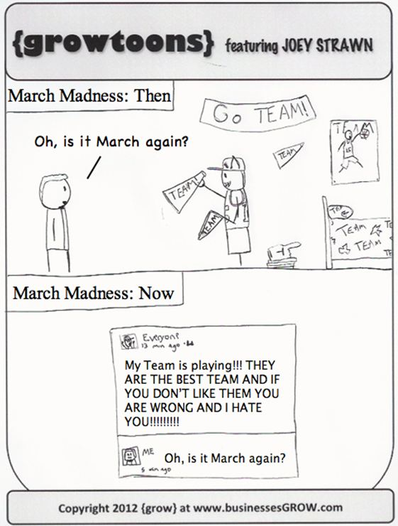 March Madness. A {growtoon}.