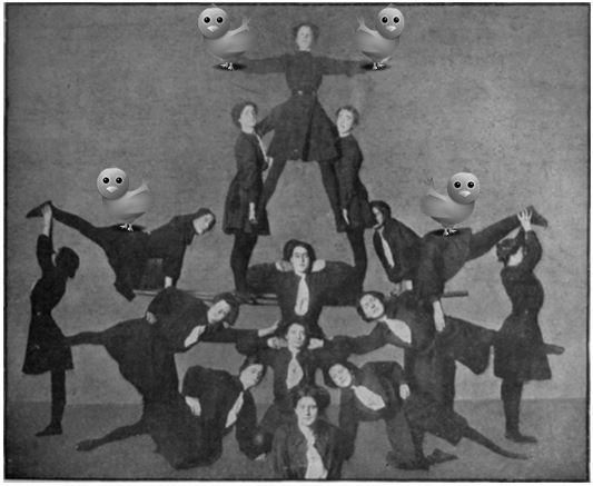 human pyramid