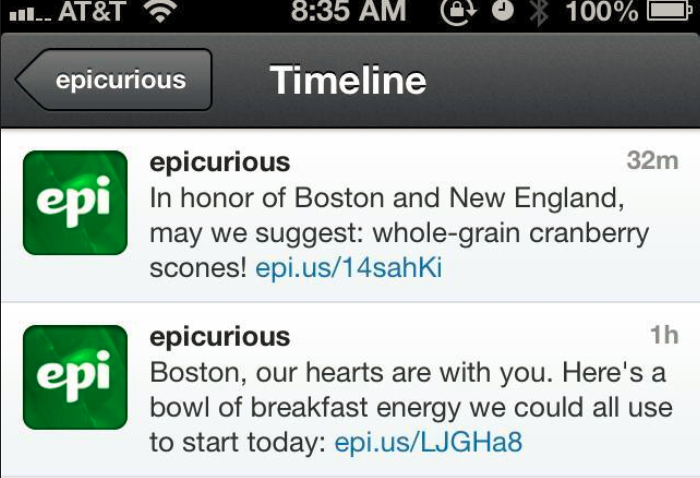 Epicurious-Tweets