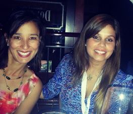 New friends Liz Philips and Paola Elizaga at Sprinklr influencer event