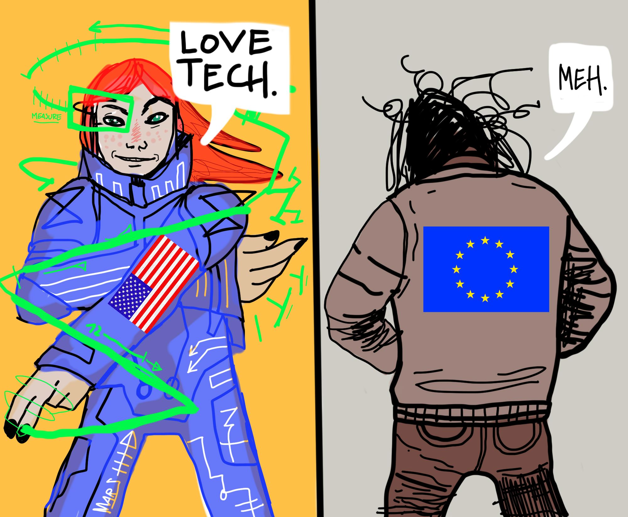 why europeans are behind in social media
