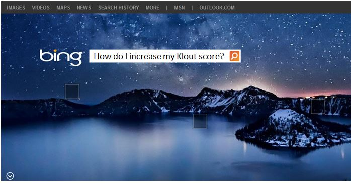 bing klout partnership