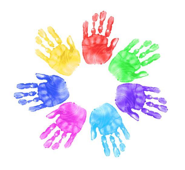 child hand print