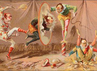 clowns practicing