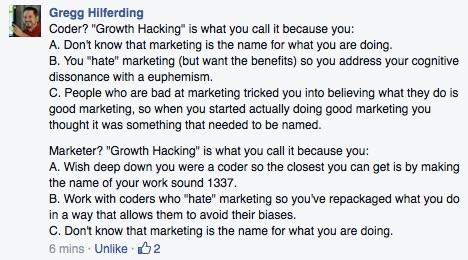 Gregg Hilferding Growth Hacking