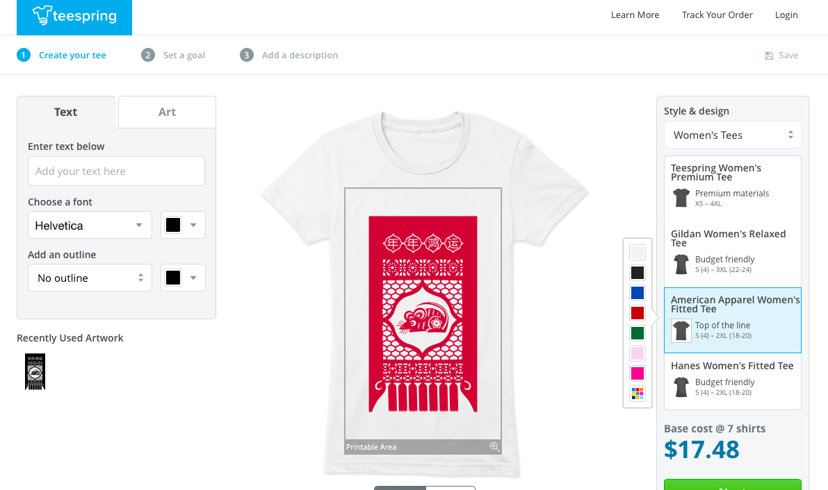 Shirt design cost - Designing A T Shirt Is Teespring Is A Quick And Painless Task