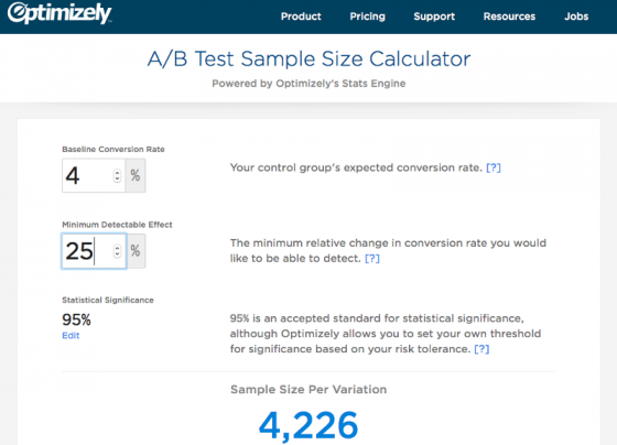 Optimizely's A/B Testing Tool