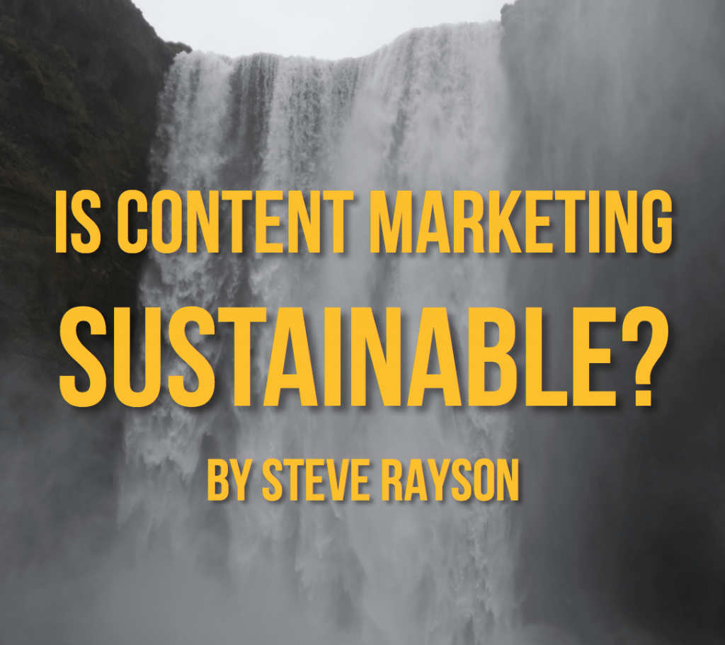 content marketing sustainable