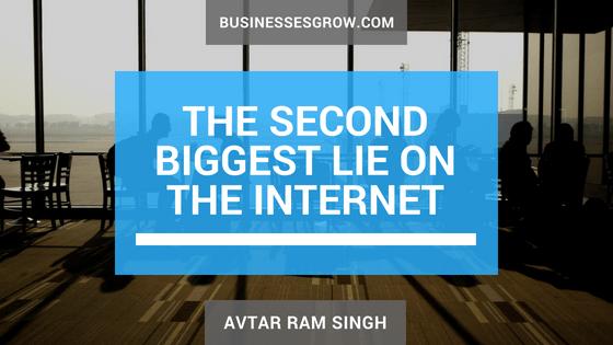 second biggest lie