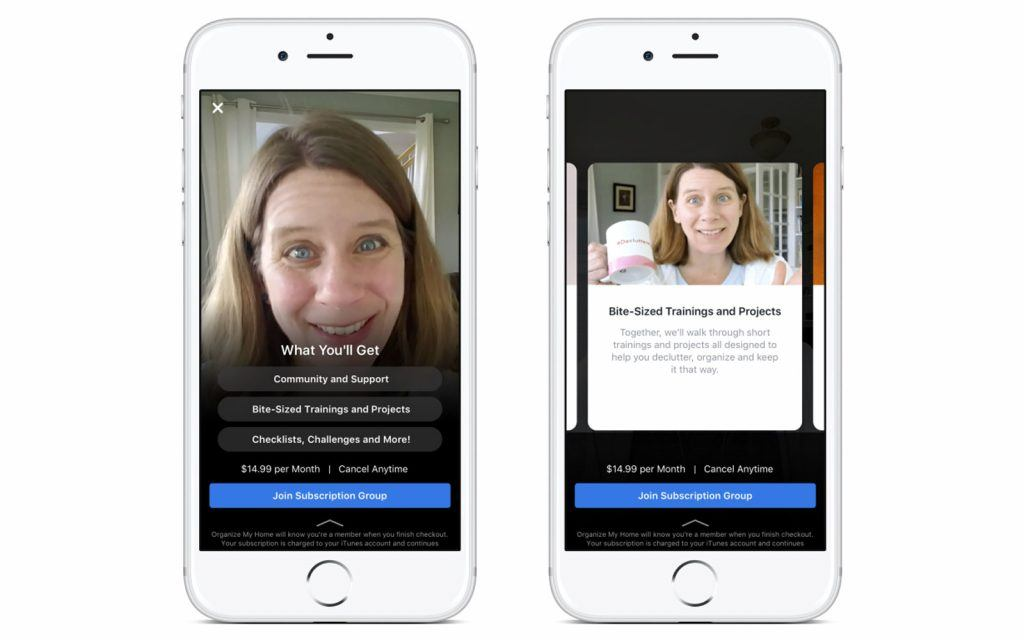 IGTV and Facebook Testing Paid Groups